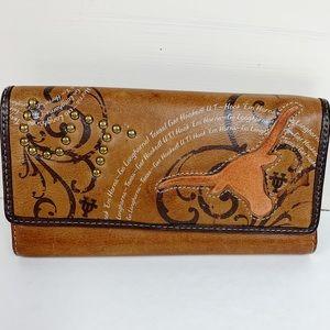 Fossil University of Texas Longhorns Wallet D27